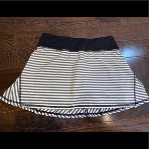 Stripped Lululemon Tennis Skirt